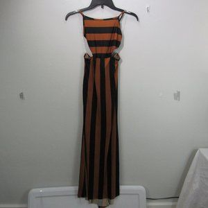 💖Lani maxi dress brown & Black Med. Haulter
